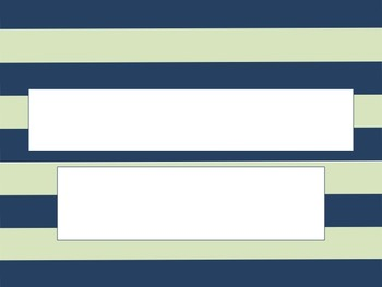 Navy and Mint Stripe PowerPoint Template