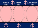 Navy and Pink Anchor Desktop Wallpaper