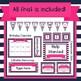 Navy and Pink Classroom Decor Bundle (Editable)