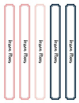 Navy and Pink Editable Binder Covers, Spines and Divider Tabs