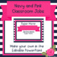 Navy and Pink Upper Elementary Classroom Jobs - Editable