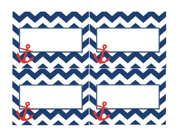 Navy and Red Nautical Labels