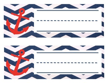 Navy and Red Nautical Nameplates
