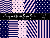 Navy and Rose Paper Pack