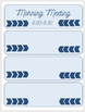 Navy and Sky Blue Schedule Cards