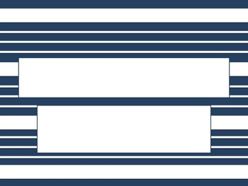 Navy and White Striped PowerPoint Template