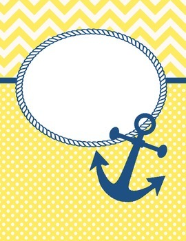 Navy and Yellow Anchor Cover Page