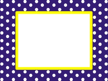 Navy and Yellow Borders and Frames