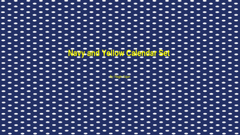 Navy and Yellow Calendar Set
