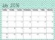 June 2016 to December 2017 Calendar