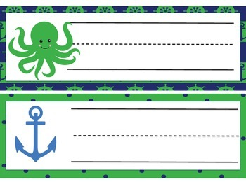 Navy/Green Nautical Nameplate