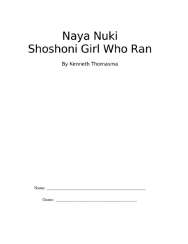 Naya Nuki Novel Unit / Book group / Study Guide