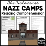 Nazi Camps World War II Reading Comprehension Worksheet, Holocaust