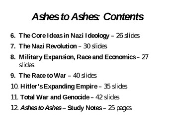 "Nazi Germany - ""Ashes to Ashes"" - Bundled Package - Part 1"