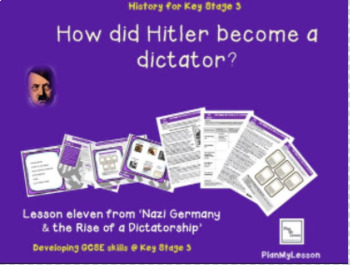 Nazi Germany: Lesson 11 How did Hitler become a dictator?