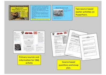 Nazi Germany - how did Hitler and the Nazis indoctrinate children DBQ