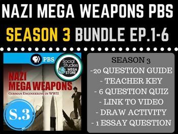 Nazi Mega Weapons PBS  Season 3 Bundle Ep. 1-6 World War II