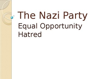 Nazi Party Power Point