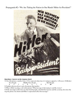 Nazi Propaganda Analysis for the LA or SS Classroom--3 Lessons