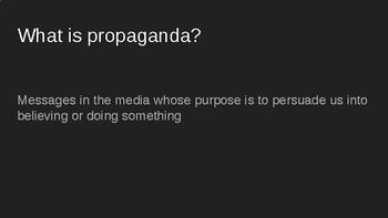 Nazi Propaganda & Questions for Tour of Auschwitz