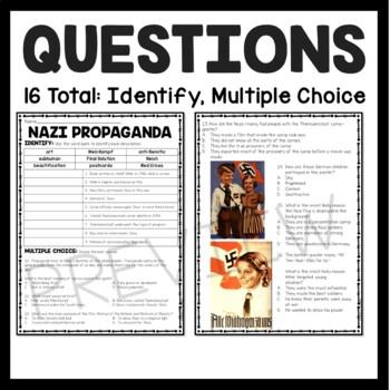 nazi propaganda reading comprehension worksheet world war ii 2 holocaust. Black Bedroom Furniture Sets. Home Design Ideas