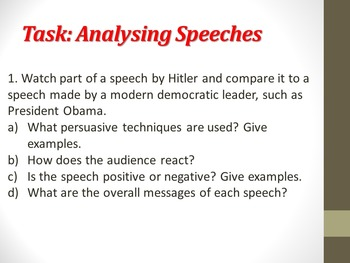 Nazi Propaganda against the Jews- PowerPoint and student tasks