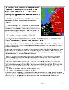 Nazi-Soviet Non Aggression Pact (DBQ)
