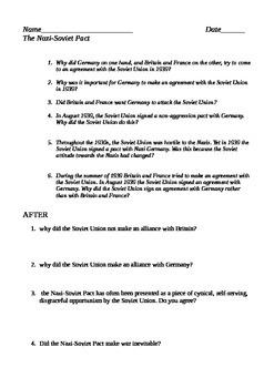 Nazi Soviet Pact Assignment