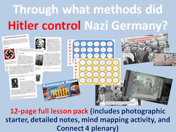 Nazi methods of control - 12-page full lesson (starter, notes, task, plenary)