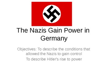 Nazis Gain Power in Germany