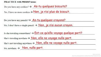 Ne aucun, Ne nulle part, Ne plus (Advanced Negatives): French Quick Lesson
