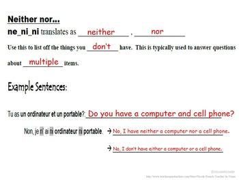 Ne ni ni, Ne que (Advanced Negatives): French Quick Lesson