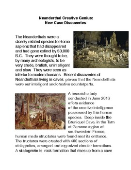Neanderthal Creative Genius: New Cave Discoveries