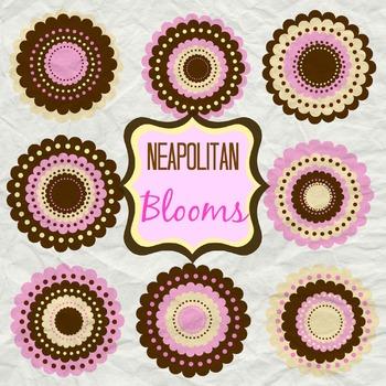 Neapolitan Blooms Bundle- Floral Clip Art