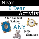 Near & Dear Characterization Activity - 30 minute activity for ANY piece of lit