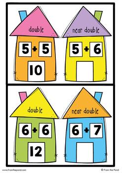 Near Doubles Addition Activity - Near Double Neighbors