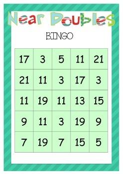 Near Doubles Bingo!