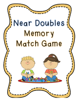 Near Doubles Facts Memory Match Game