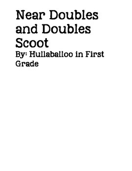 Near Doubles and Doubles Scoot