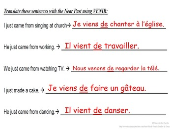 Near Past with VENIR: French Quick Lesson