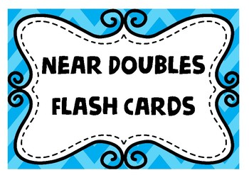 Near doubles - Addition Flash Cards