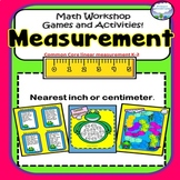Measurement Games COMMON CORE Nearest inch and centimeter 1st, 2nd