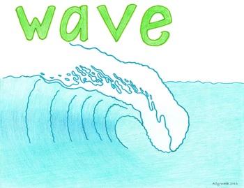 Nearest Wave Cartoon--Printable Montessori Homonym Cards