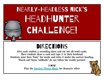 Nearly Headless Nick's /ou/ow/ Phonics Headhunter Challenge!