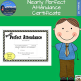 Nearly Perfect Attendance Certificate