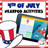 Nearpod 4th of July Reading Games for Literacy Centers and