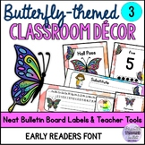 Neat Butterfly-themed Classroom Decor 3 (Editable) Early Readers