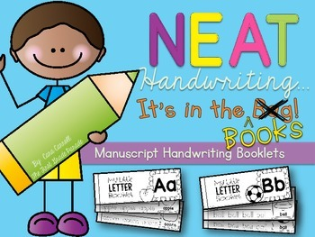 Neat Handwriting...It's In The Books!   {Manuscript Handwriting Booklets}