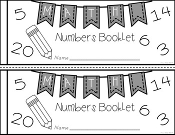 Neat Numbers Booklet: Number Writing Practice {D'Nealian}