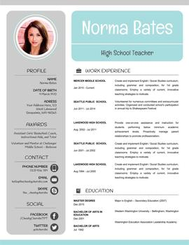 Neat Teacher Resume Template + Cover Letter + References PowerPoint EDITABLE